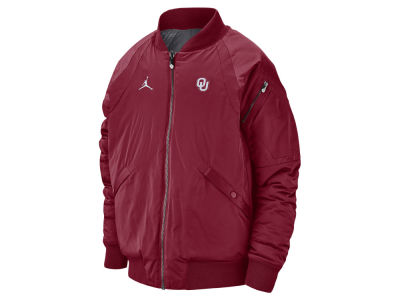 Oklahoma Sooners Jordan NCAA Men's Iconic Diamond Shape Bomber Jacket