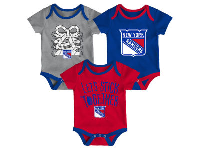 New York Rangers Outerstuff NHL Newborn Five On Three Creeper Set 9affc5f6e