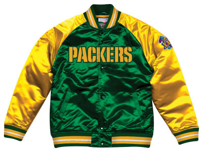 Green Bay Packers Mitchell & Ness NFL Men's Tough Season Satin Jacket