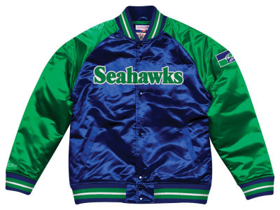 Seattle Seahawks Mitchell & Ness NFL Men's Tough Season Satin Jacket
