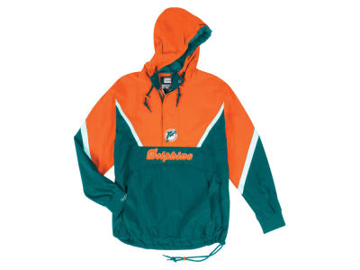 Miami Dolphins Mitchell & Ness NFL Men's Half Zip Anorak Jacket