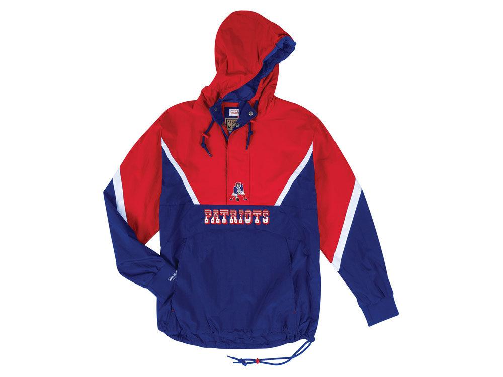 9ee5d02bf02 New England Patriots Mitchell   Ness NFL Men's Half Zip Anorak Jacket