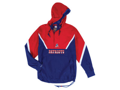 New England Patriots Mitchell & Ness NFL Men's Half Zip Anorak Jacket