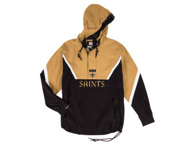 New Orleans Saints Mitchell & Ness NFL Men's Half Zip Anorak Jacket