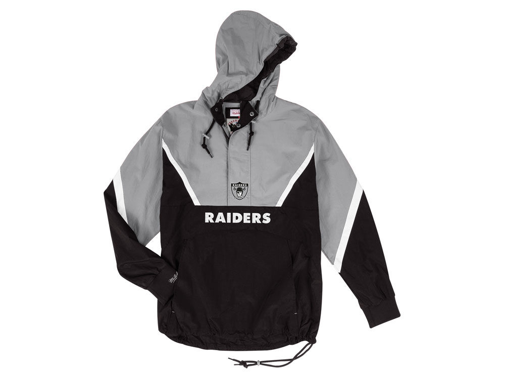 42fab5097 Oakland Raiders Mitchell   Ness NFL Men s Half Zip Anorak Jacket ...