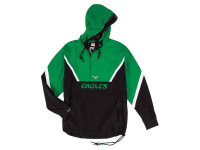 Philadelphia Eagles Mitchell & Ness NFL Men's Half Zip Anorak Jacket