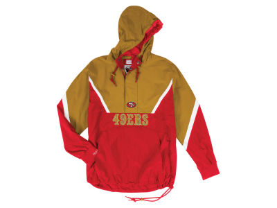 San Francisco 49ers Mitchell & Ness NFL Men's Half Zip Anorak Jacket