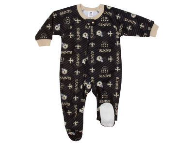 New Orleans Saints Gerber NFL Newborn Blanket Sleeper Onesie
