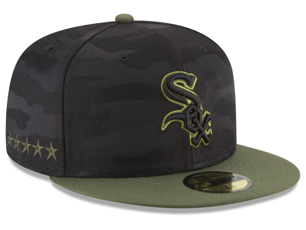 Chicago White Sox New Era 2018 MLB Memorial Day 59FIFTY Cap  a782bdd1020