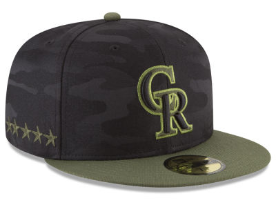 Colorado Rockies New Era 2018 MLB Memorial Day 59FIFTY Cap