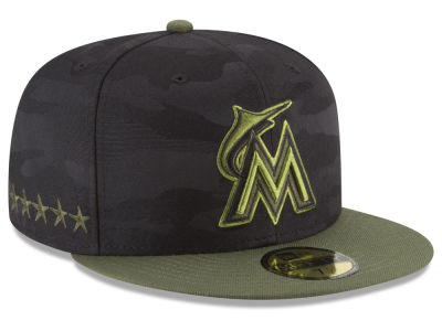 best sneakers 7f858 16238 ... low cost miami marlins new era 2018 mlb memorial day 59fifty cap d1bfd  f3b9b