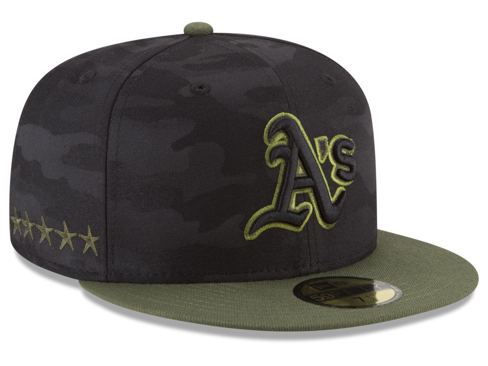 Oakland Athletics New Era 2018 MLB Memorial Day 59FIFTY Cap  e1e3cfffd435
