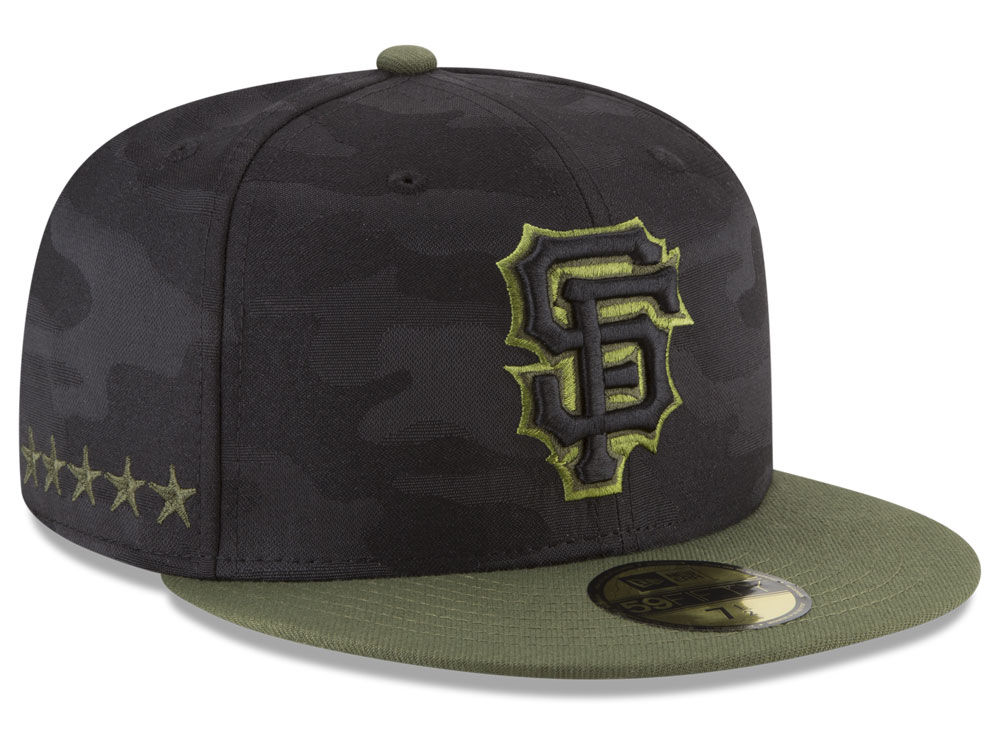 San Francisco Giants New Era 2018 MLB Memorial Day 59FIFTY Cap ... 1ffc2f3df31
