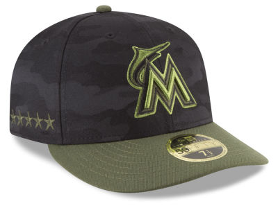 Miami Marlins New Era 2018 MLB Memorial Day Low Profile 59FIFTY Cap