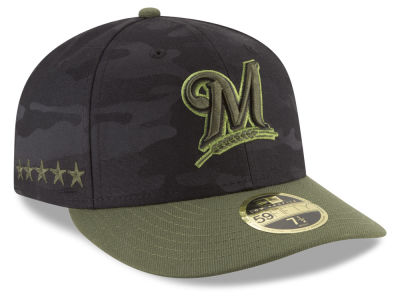 Milwaukee Brewers New Era 2018 MLB Memorial Day Low Profile 59FIFTY Cap