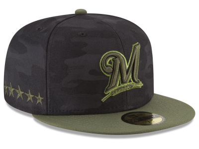 Milwaukee Brewers New Era 2018 MLB Kids Memorial Day 59FIFTY Cap