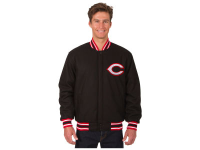 Cincinnati Reds JH Design MLB Men's All Wool Reversible Jacket