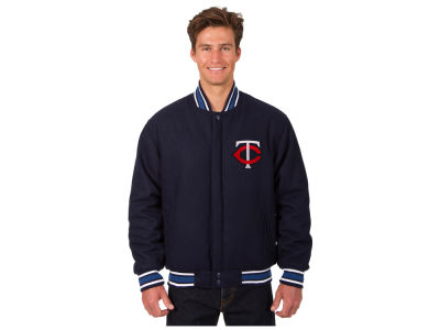 Minnesota Twins JH Design MLB Men's All Wool Reversible Jacket