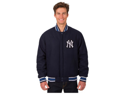 New York Yankees JH Design MLB Men's All Wool Reversible Jacket