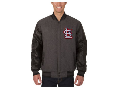 St. Louis Cardinals JH Design MLB Men's Wool Reversible Leather Sleeve Jacket