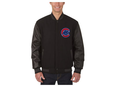 Chicago Cubs JH Design MLB Men's Wool Reversible Leather Sleeve Jacket