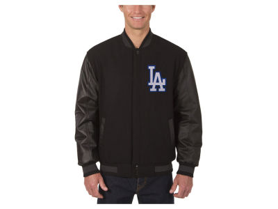 Los Angeles Dodgers JH Design MLB Men's Wool Reversible Leather Sleeve Jacket