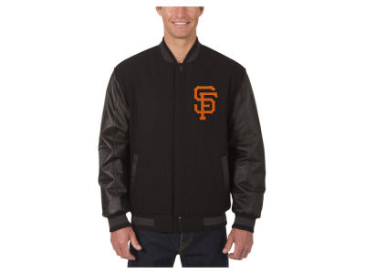 San Francisco Giants JH Design MLB Men's Wool Reversible Leather Sleeve Jacket