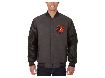 Baltimore Orioles JH Design MLB Men's Wool Reversible Leather Sleeve Jacket