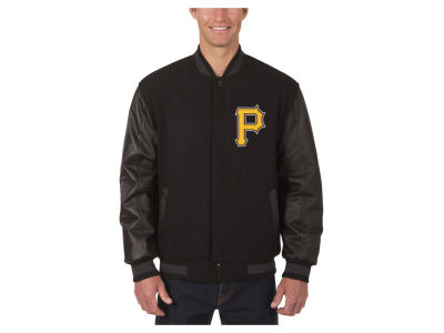 Pittsburgh Pirates JH Design MLB Men's Wool Reversible Leather Sleeve Jacket