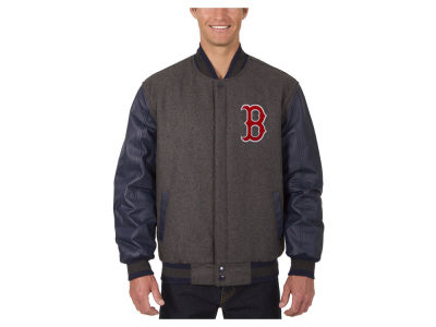 Boston Red Sox JH Design MLB Men's Wool Reversible Leather Sleeve Jacket
