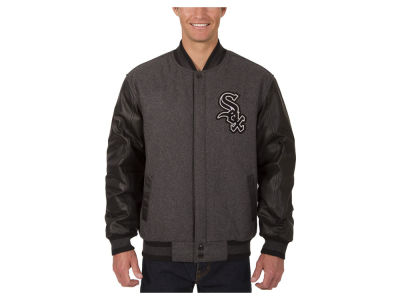 Chicago White Sox JH Design MLB Men's Wool Reversible Leather Sleeve Jacket