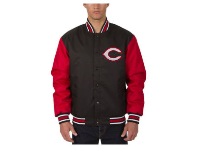 Cincinnati Reds JH Design MLB Men's PolyTwill Jacket