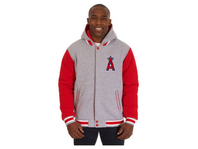 Los Angeles Angels JH Design MLB Men's Hooded Fleece Reversible Jacket