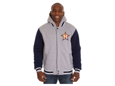 Houston Astros JH Design MLB Men's Hooded Fleece Reversible Jacket