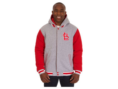 St. Louis Cardinals JH Design MLB Men's Hooded Fleece Reversible Jacket