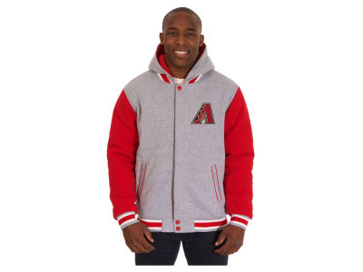 Arizona Diamondbacks JH Design MLB Men's Hooded Fleece Reversible Jacket