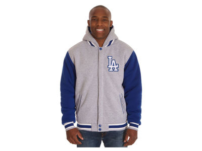 Los Angeles Dodgers JH Design MLB Men's Hooded Fleece Reversible Jacket