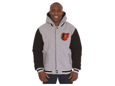 Baltimore Orioles JH Design MLB Men's Hooded Fleece Reversible Jacket