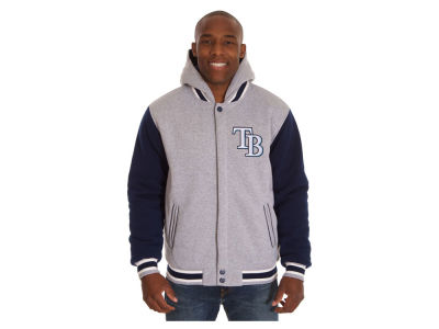 Tampa Bay Rays JH Design MLB Men's Hooded Fleece Reversible Jacket