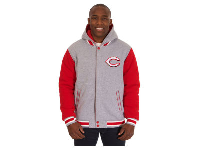 Cincinnati Reds JH Design MLB Men's Hooded Fleece Reversible Jacket