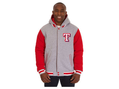 Texas Rangers JH Design MLB Men's Hooded Fleece Reversible Jacket