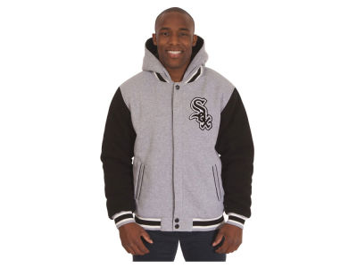 Chicago White Sox JH Design MLB Men's Hooded Fleece Reversible Jacket