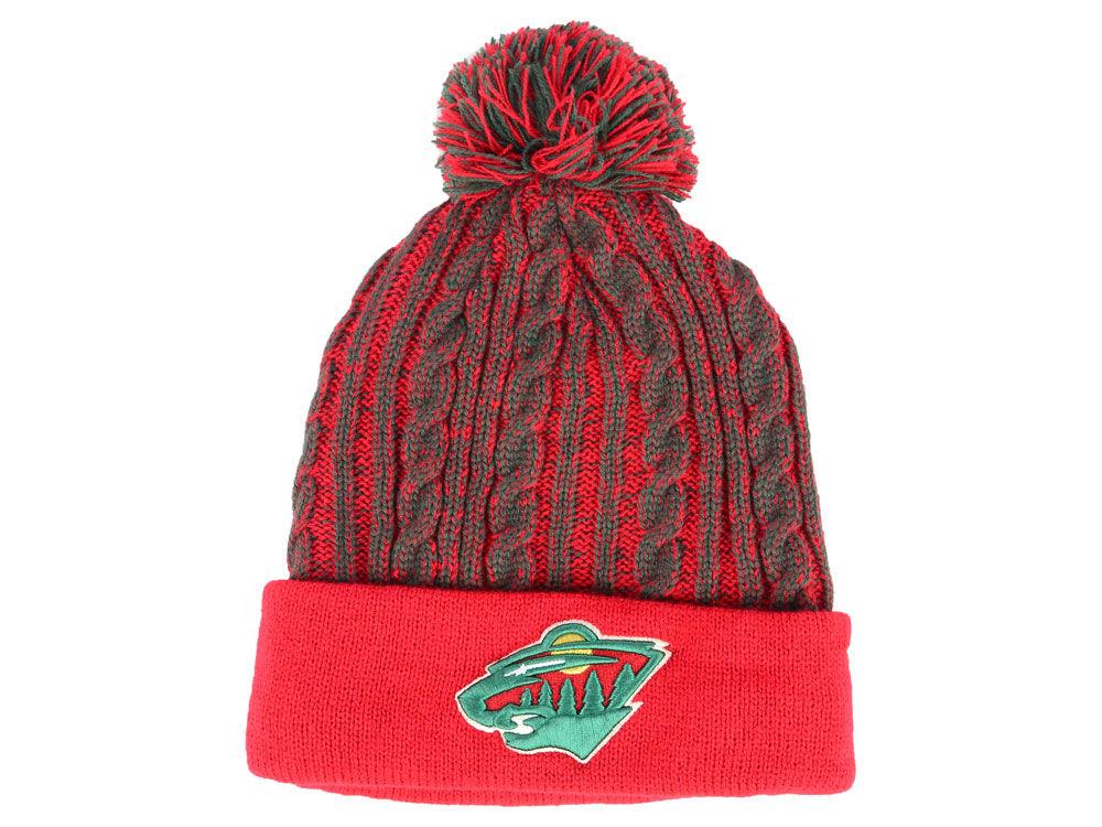 7b00743a751e23 ... team logo cuffed knit hat 8828a 8fa45; discount code for minnesota wild  nhl womens iconic ace knit 9682d 0c6f1