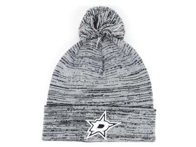 Dallas Stars NHL Black White Cuffed Pom