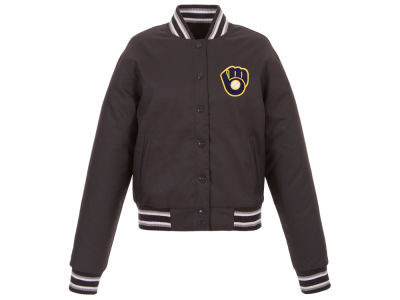 Milwaukee Brewers JH Design MLB Women's Polytwill Jacket