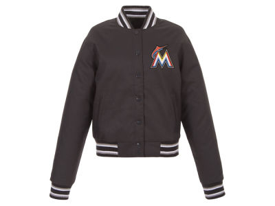 Miami Marlins JH Design MLB Women's Polytwill Jacket