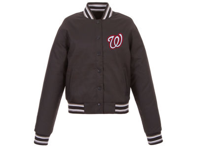 Washington Nationals JH Design MLB Women's Polytwill Jacket
