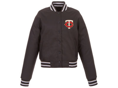 Minnesota Twins JH Design MLB Women's Polytwill Jacket