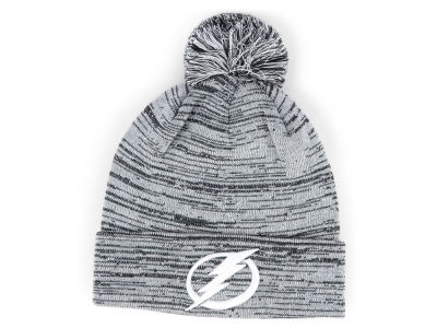 Tampa Bay Lightning NHL Black White Cuffed Pom