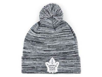 Toronto Maple Leafs NHL Black White Cuffed Pom